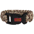 Iowa St. Cyclones Camo Survivor Bracelet - Our functional and fashionable Iowa St. Cyclones camo survivor bracelets contain 2 individual 300lb test paracord rated cords that are each 5 feet long. The Iowa St. Cyclones Camo Survivor Bracelet camo cords can be pulled apart to be used in any number of emergencies and look great while worn. The bracelet features a team emblem on the clasp.  Thank you for shopping with CrazedOutSports.com