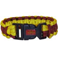 Iowa St. Cyclones Survivor Bracelet - Our functional and fashionable Iowa St. Cyclones survivor bracelets contain 2 individual 300lb test paracord rated cords that are each 5 feet long. The team colored cords can be pulled apart to be used in any number of emergencies and look great while worn. The bracelet features a team emblem on the clasp. Thank you for shopping with CrazedOutSports.com
