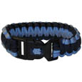N. Carolina Tar Heels Survivor Bracelet - Our functional and fashionable N. Carolina Tar Heels survivor bracelets contain 2 individual 300lb test paracord rated cords that are each 5 feet long. The team colored cords can be pulled apart to be used in any number of emergencies and look great while worn. The bracelet features a team emblem on the clasp. Thank you for shopping with CrazedOutSports.com