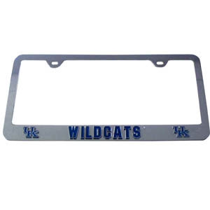 Kentucky Wildcats Tag Frame - Our college license plate tag frames are made of durable zinc and are chrome plated. They feature finely carved 3D detail. Check out our extensive line of  automotive merchandise! Thank you for shopping with CrazedOutSports.com