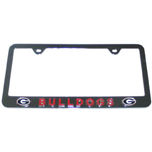 Georgia Bulldogs Tag Frame License Plate - This Georgia Bulldogs collegiate steel tag License Plate frame has a 3D enameled Georgia Bulldogs school logo. Thank you for shopping with CrazedOutSports.com