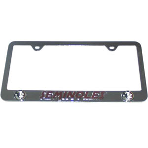 Florida State Seminoles Tag Frame - This collegiate steel tag frame has a 3D enameled Florida State Seminoles logo. Thank you for shopping with CrazedOutSports.com