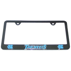 N. Carolina Tar Heels Tag Frame - Our college license plate tag frames are made of durable zinc and are chrome plated. They feature finely carved 3D detail. Check out our extensive line of  automotive merchandise! Thank you for shopping with CrazedOutSports.com