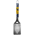 W. Virginia Mountaineers Tailgater Spatula - Our tailgater spatula really catches your eye with flashy chrome accents and vivid W. Virginia Mountaineers digital graphics. The 420 grade stainless steel spatula is a tough, heavy-duty tool that will last through years of tailgating fun. The spatula features a bottle opener and sharp serrated edge.