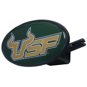 S. Florida College Hitch Cover - Strong plastic hitch cover that includes hitch pin and features a school logo dome. Fits class III receivers. Thank you for shopping with CrazedOutSports.com