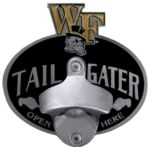 Wake Forest Tailgater Hitch - Our tailgater hitch cover   features a functional bottle opener and school emblem with enameled finish. Thank you for shopping with CrazedOutSports.com
