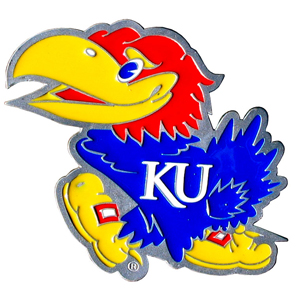 "Collegiate Hitch Cover - Kansas Jayhawks - Kansas Jayhawks collegiate hitch cover is a durable and attractive way to show off your school spirit. The Kansas Jayhawks hitch cover fits a 2"" hitch receiver. Thank you for shopping with CrazedOutSports.com"