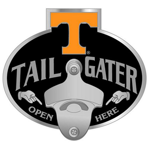 Collegiate Hitch Cover - Tennessee Volunteers - Our tailgater hitch cover   features a functional bottle opener and school emblem with enameled finish. Thank you for shopping with CrazedOutSports.com