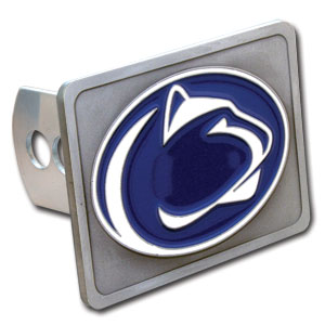 College Trailer Hitch Cover - Penn State Nittany Lions - Our College Trailer Hitch Cover is hand painted with 3-D carved logo. Hardware included. Fits standard hitches. Enameled on durable, rust-proof zinc. Fits Class II and Class III hitches. Check out our extensive line of  automotive accessories! Thank you for shopping with CrazedOutSports.com