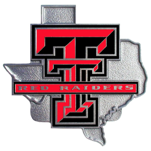 """Collegiate Hitch Cover - Texas Tech Raiders - Our collegiate hitch cover is a durable and attractive way to show off your school spirit. The hitch fits a 2"""" hitch receiver. Thank you for shopping with CrazedOutSports.com"""