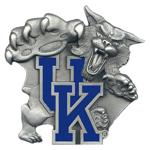 "Collegiate Hitch Cover - Kentucky Wildcats - Our collegiate hitch cover is a durable and attractive way to show off your school spirit. The hitch fits a 2"" hitch receiver. Thank you for shopping with CrazedOutSports.com"