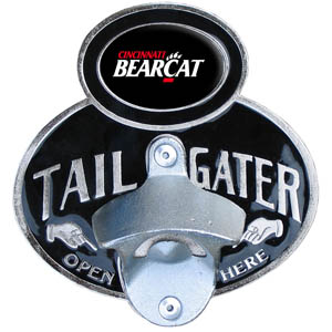 Cincinnati Tailgater  Hitch - Our tailgater hitch cover   features a functional bottle opener and school emblem with enameled finish. Fits class II and Class III hitch covers. Thank you for shopping with CrazedOutSports.com