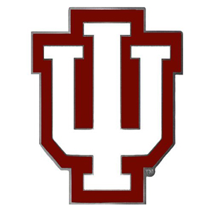 "Collegiate Hitch Cover - Indiana Hoosiers - Our collegiate Indiana Hoosiers hitch cover is a durable and attractive way to show off your school spirit. The hitch fits a 2"" hitch receiver. Thank you for shopping with CrazedOutSports.com"