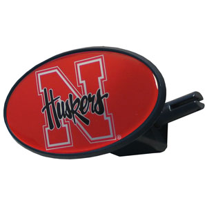 Nebraska College Hitch Cover - Strong plastic hitch cover that includes hitch pin and features a school logo dome. Fits class III receivers. Thank you for shopping with CrazedOutSports.com