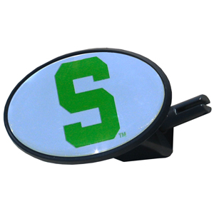 Michigan St. Spartans College Hitch Cover - This Michigan St. Spartans College Hitch Cover is a strong plastic hitch cover that includes hitch pin and features a school logo dome. The Michigan St. Spartans College Hitch Cover fits class III receivers. Thank you for shopping with CrazedOutSports.com