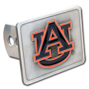College Trailer Hitch Cover -  Auburn Tigers - Our College Trailer Hitch Cover is hand painted with 3-D carved Auburn Tigers logo. Hardware included. Fits standard hitches. Enameled on durable, rust-proof zinc. Fits Class II and Class III hitches. Check out our extensive line of  automotive accessories! Thank you for shopping with CrazedOutSports.com