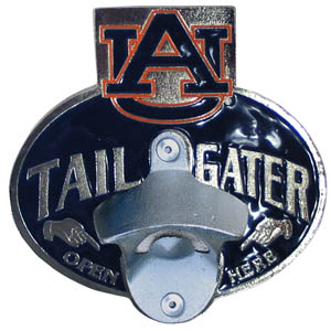 Collegiate Hitch Cover - Auburn Tigers - Our tailgater hitch cover   features a functional bottle opener and Auburn Tigers school emblem with enameled finish. Thank you for shopping with CrazedOutSports.com