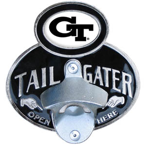 Georgia Tech Yellow Jackets Tailgater  Hitch - This Georgia Tech Yellow Jackets tailgater hitch cover features a functional bottle opener and Georgia Tech Yellow Jackets emblem with enameled finish. Fits class II and Class III hitch covers. Thank you for shopping with CrazedOutSports.com