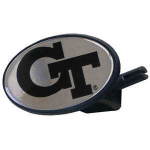 Georgia Tech College Hitch Cover - This Georgia Tech Yellow Jackets is a strong plastic hitch cover that includes hitch pin and features a Georgia Tech Yellow Jackets school logo dome. Fits class III receivers. Thank you for shopping with CrazedOutSports.com
