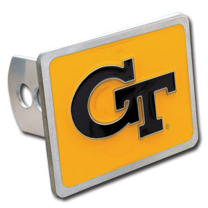 College Trailer Hitch Cover - Georgia Tech Yellow Jackets - This Georgia Tech Yellow Jackets College Trailer Hitch Cover is hand painted with 3-D carved Georgia Tech Yellow Jackets logo. Hardware included. Fits standard hitches. Enameled on durable, rust-proof zinc. Fits Class II and Class III hitches. Check out our extensive line of  automotive accessories! Thank you for shopping with CrazedOutSports.com