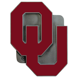 "Collegiate Hitch Cover - Oklahoma Sooners - Our collegiate hitch cover is a durable and attractive way to show off your school spirit. The hitch fits a 2"" hitch receiver. Thank you for shopping with CrazedOutSports.com"