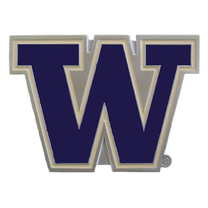 "Collegiate Hitch Cover - Washington Huskies - Our collegiate hitch cover is a durable and attractive way to show off your school spirit. The hitch fits a 2"" hitch receiver. Thank you for shopping with CrazedOutSports.com"