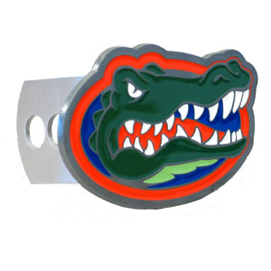 College Trailer Hitch Cover - Florida Gators - Our College Trailer Hitch Cover is hand painted with 3-D carved Florida Gators logo. Hardware included. Fits standard hitches. Enameled on durable, rust-proof zinc. Fits Class II and Class III hitches. Check out our extensive line of  automotive accessories! Thank you for shopping with CrazedOutSports.com