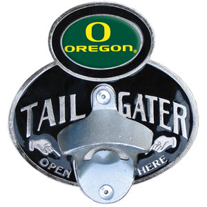 Oregon Tailgater   Hitch Cover - Our tailgater hitch cover   features a functional bottle opener and school emblem with enameled finish. Fits class II and Class III hitch covers. Thank you for shopping with CrazedOutSports.com