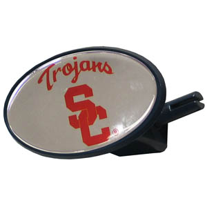 USC College Hitch Cover - Strong plastic hitch cover that includes hitch pin and features a school logo dome. Fits class III receivers. Thank you for shopping with CrazedOutSports.com