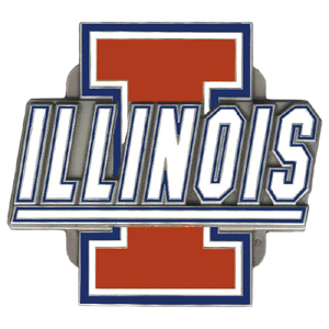 "Collegiate Hitch Cover - Illinois Fighting Illini - Our collegiate Illinois Fighting Illini hitch cover is a durable and attractive way to show off your school spirit. The hitch fits a 2"" hitch receiver. Thank you for shopping with CrazedOutSports.com"