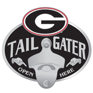 Collegiate Hitch Cover - Georgia Bulldogs - Our Georgia Bulldogs tailgater hitch cover  features a functional bottle opener and Georgia Bulldogs school emblem with enameled finish. Thank you for shopping with CrazedOutSports.com