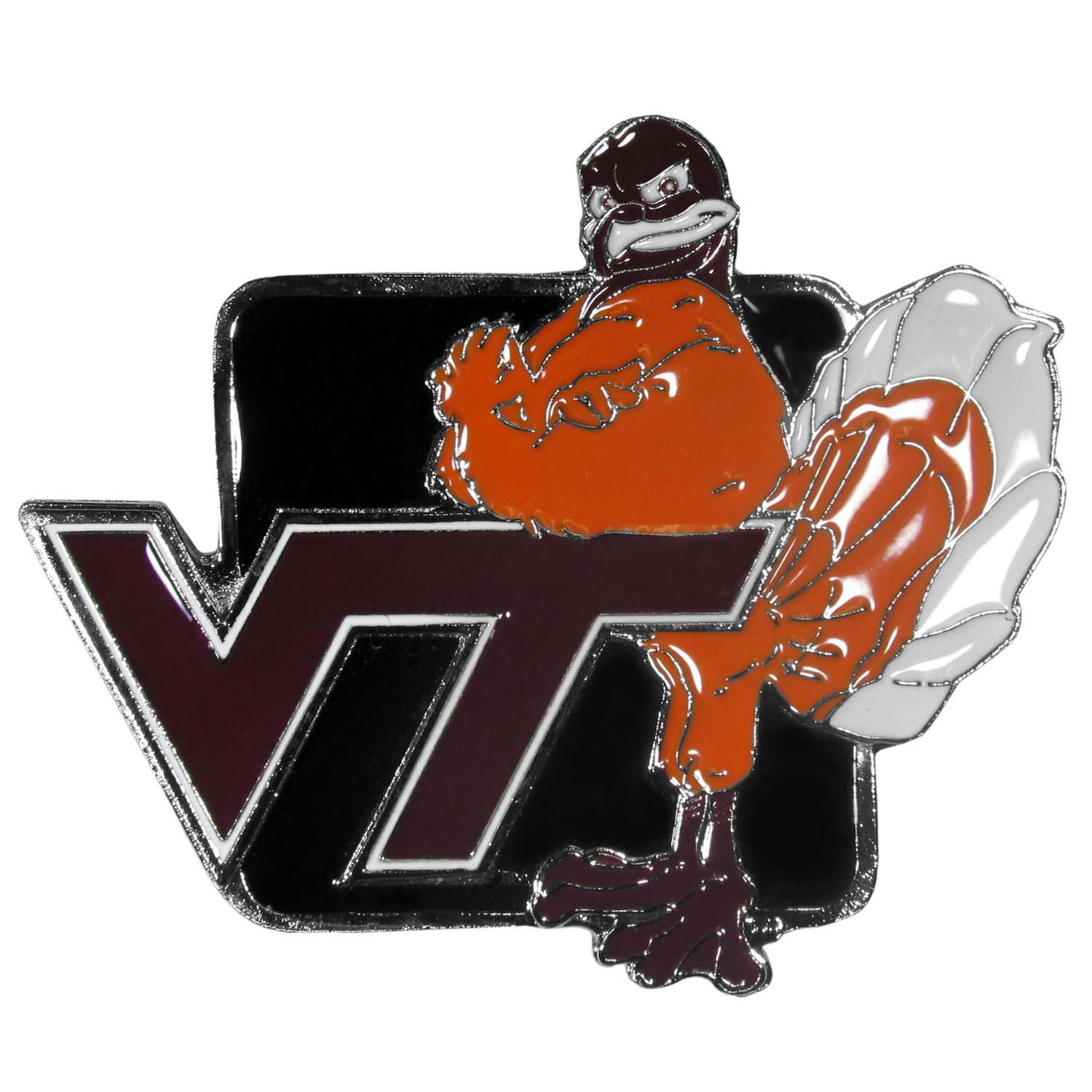 "Collegiate Hitch Cover - Virginia Tech Hokies - Our collegiate hitch cover is a durable and attractive way to show off your school spirit. The hitch fits a 2"" hitch receiver. Thank you for shopping with CrazedOutSports.com"