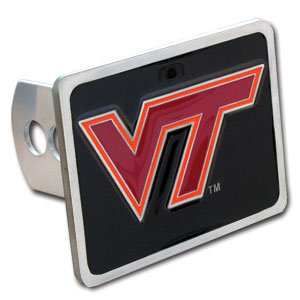 College Trailer Hitch Cover - Virginia Tech Hokies - Our College Trailer Hitch Cover is hand painted with 3-D carved logo. Hardware included. Fits standard hitches. Enameled on durable, rust-proof zinc. Fits Class II and Class III hitches. Check out our extensive line of  automotive accessories! Thank you for shopping with CrazedOutSports.com