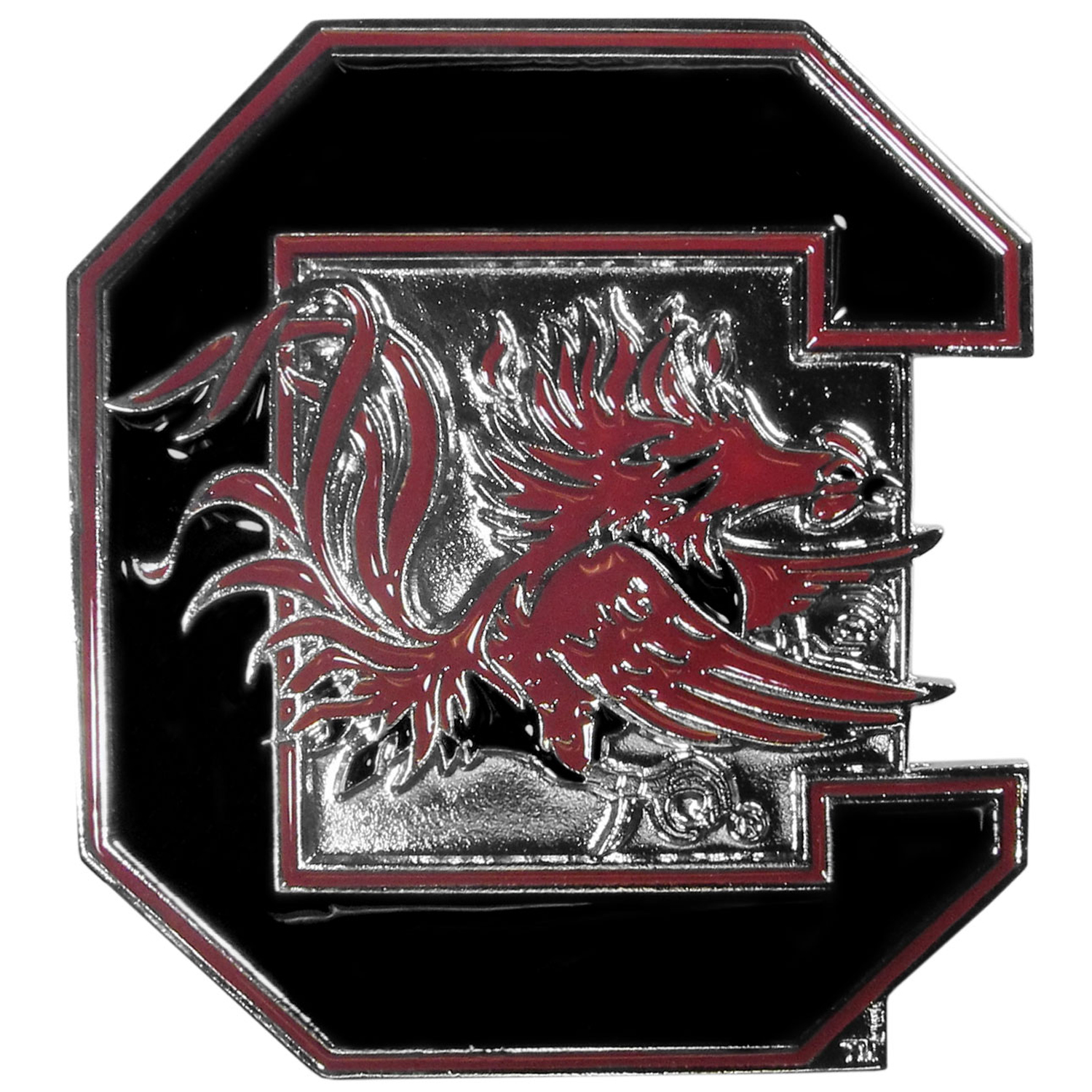 "Collegiate Hitch Cover - S. Carolina Gamecocks - Our collegiate hitch cover is a durable and attractive way to show off your school spirit. The hitch fits a 2"" hitch receiver. Thank you for shopping with CrazedOutSports.com"