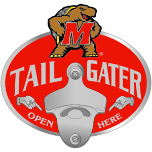 Maryland Terrapins College Hitch Cover Collegiate Hitch Cover - This Maryland Terrapins College Hitch Cover features a functional bottle opener and school emblem with enameled finish. Thank you for shopping with CrazedOutSports.com