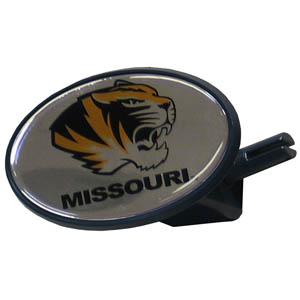 Missouri College Hitch Cover - Strong plastic hitch cover that includes hitch pin and features a school logo dome. Fits class III receivers. Thank you for shopping with CrazedOutSports.com