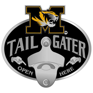 Collegiate Hitch Cover - Missouri Tigers - Our tailgater hitch cover   features a functional bottle opener and school emblem with enameled finish. Thank you for shopping with CrazedOutSports.com