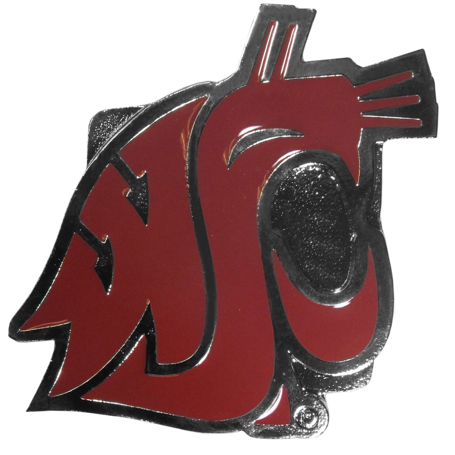 "Collegiate Hitch Cover - Washington St. Cougars - Our collegiate hitch cover is a durable and attractive way to show off your school spirit. The hitch fits a 2"" hitch receiver. Thank you for shopping with CrazedOutSports.com"