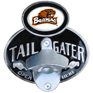 Oregon St. Tailgater Hitch Cover - Our tailgater hitch cover   features a functional bottle opener and school emblem with enameled finish. Thank you for shopping with CrazedOutSports.com