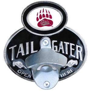 Montana Tailgater Hitch Cover - Our tailgater hitch cover   features a functional bottle opener and school emblem with enameled finish. Thank you for shopping with CrazedOutSports.com