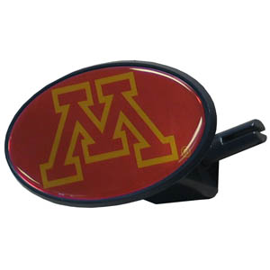 Minnesota Golden Gophers College Hitch Cover - This Minnesota Golden Gophers College Hitch Cover is a strong plastic hitch cover that includes hitch pin and features a school logo dome. Minnesota Golden Gophers College Hitch Cover fits class III receivers. Thank you for shopping with CrazedOutSports.com