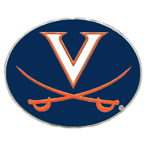 "Collegiate Hitch Cover - Virginia Cavaliers - Our collegiate hitch cover is a durable and attractive way to show off your school spirit. The hitch fits a 2"" hitch receiver. Thank you for shopping with CrazedOutSports.com"