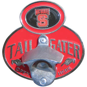 N. Carolina Tailgater Hitch Cover - Our tailgater hitch cover   features a functional bottle opener and school emblem with enameled finish. Thank you for shopping with CrazedOutSports.com