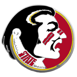 "Collegiate Hitch Cover - Florida St. Seminoles - Our collegiate hitch cover is a durable and attractive way to show off your Florida State Seminoles spirit. The hitch fits a 2"" hitch receiver. Thank you for shopping with CrazedOutSports.com"