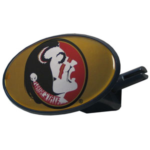Florida State Seminoles College Hitch Cover - Strong plastic hitch cover that includes hitch pin and features a Florida State Seminoles logo dome. Fits class III receivers. Thank you for shopping with CrazedOutSports.com