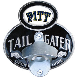 Pittsburgh Tailgater Hitch Cover - Our tailgater hitch cover   features a functional bottle opener and school emblem with enameled finish. Thank you for shopping with CrazedOutSports.com