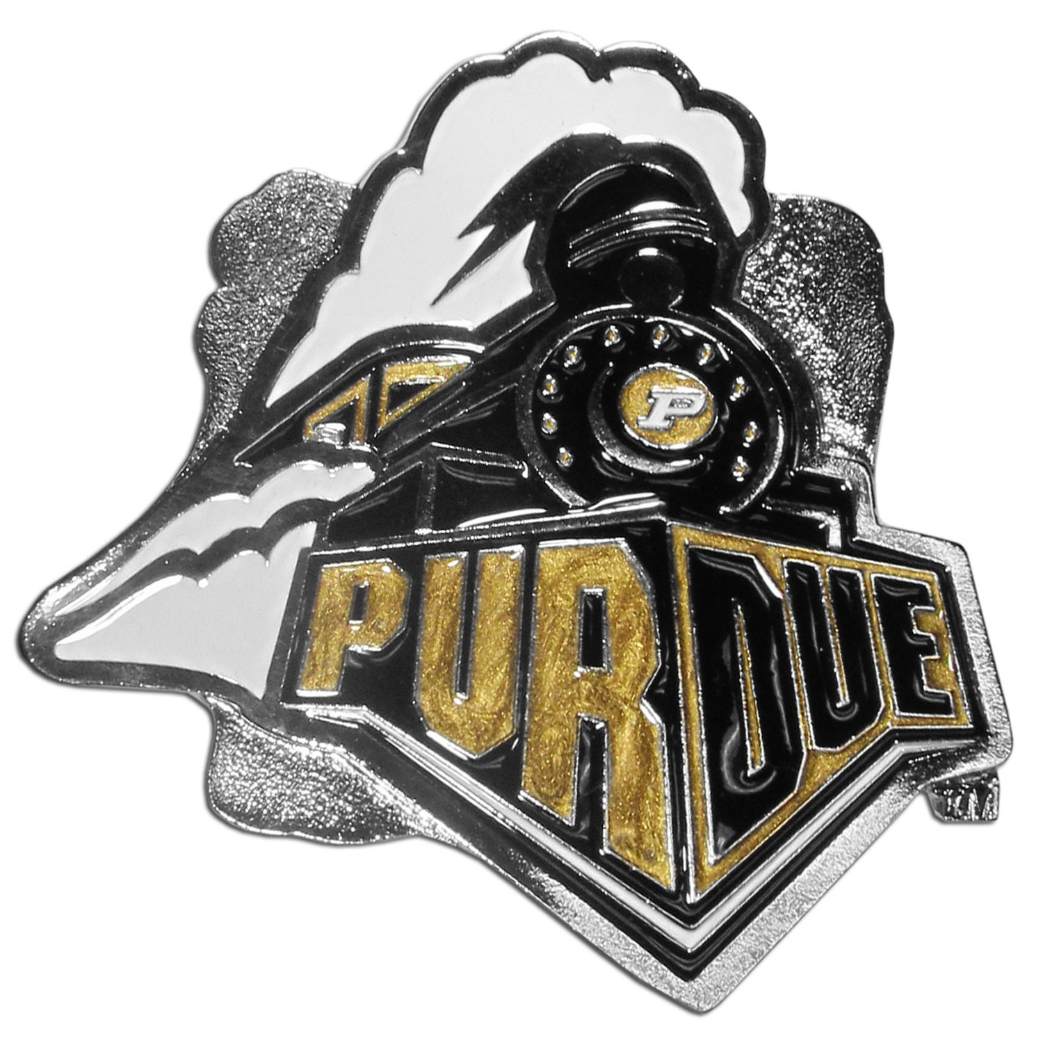 "Collegiate Hitch Cover - Purdue Boilermakers - Our collegiate hitch cover is a durable and attractive way to show off your school spirit. The hitch fits a 2"" hitch receiver. Thank you for shopping with CrazedOutSports.com"