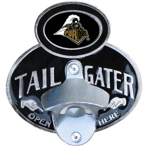 Purdue Tailgater  Hitch - Our tailgater hitch cover   features a functional bottle opener and school emblem with enameled finish. Fits class II and Class III hitch covers. Thank you for shopping with CrazedOutSports.com