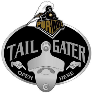Collegiate Hitch Cover - Purdue Boilermakers - Our tailgater hitch cover   features a functional bottle opener and school emblem with enameled finish. Thank you for shopping with CrazedOutSports.com