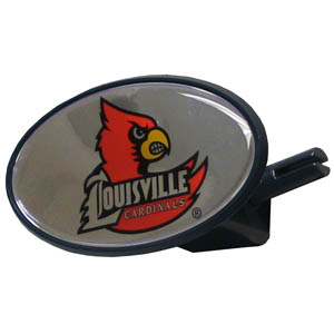Louisville College Hitch Cover - Strong plastic hitch cover that includes hitch pin and features a school logo dome. Fits class III receivers. Thank you for shopping with CrazedOutSports.com